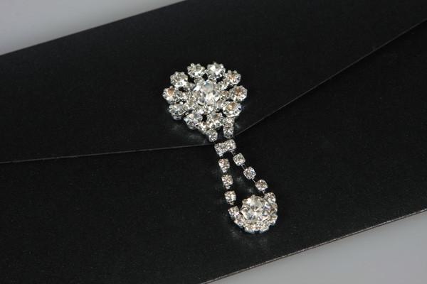 Diamonds Pocketfold Day Wedding Invitati