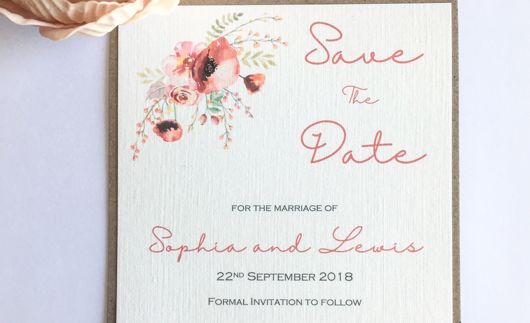 Emily Save the Date Card