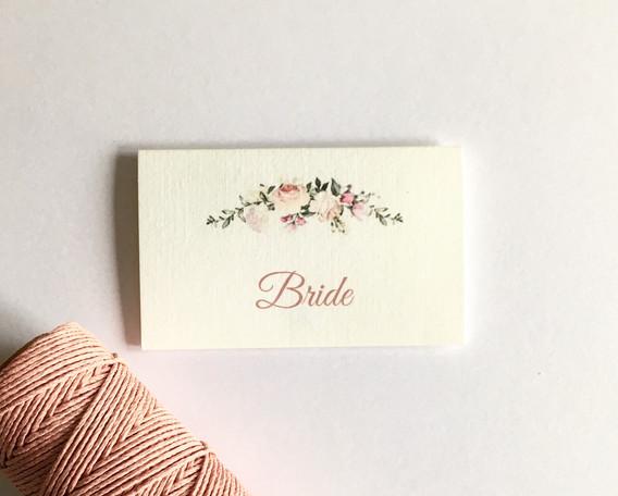 Flora wedding name place card