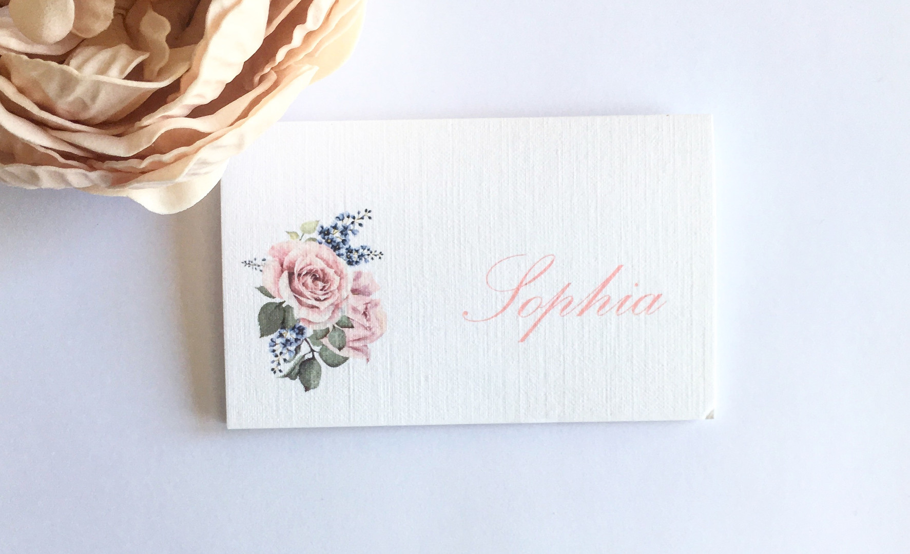 Rose Name Place Card