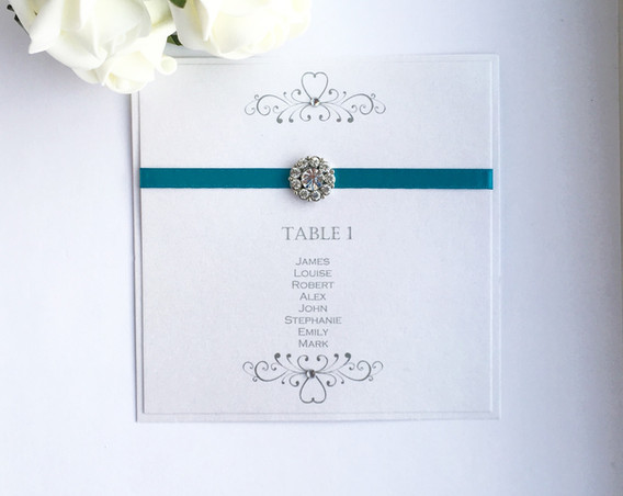 Romance Table Plan Card