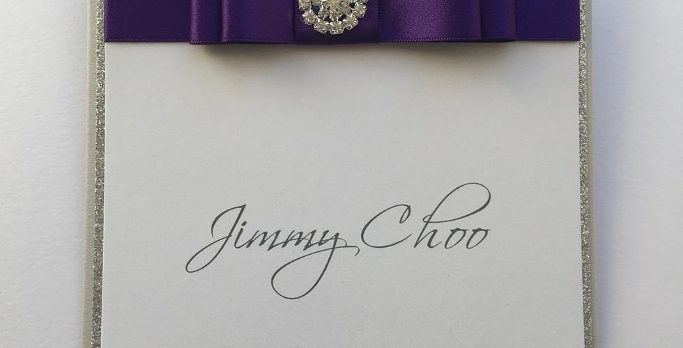 Dedication Wedding Table Name