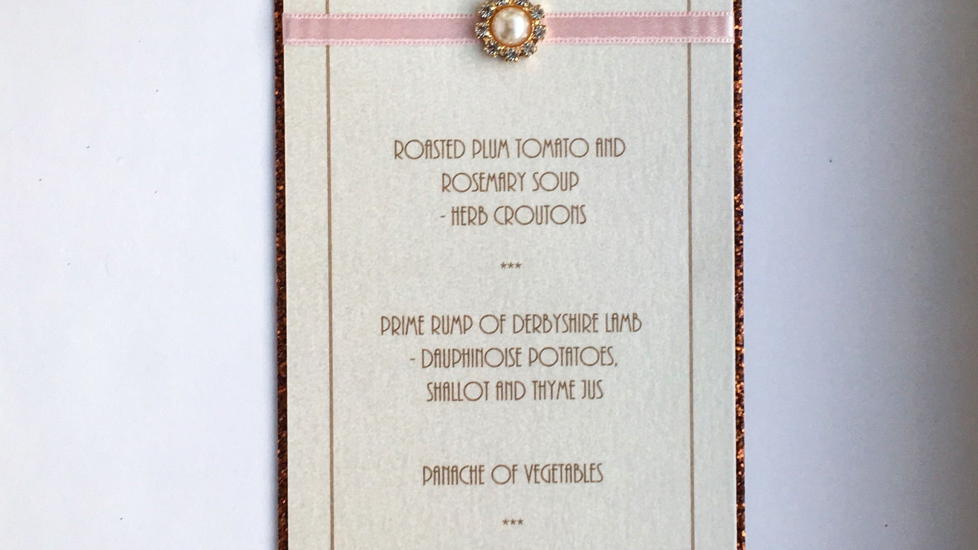 Love Wedding Place Card Menu