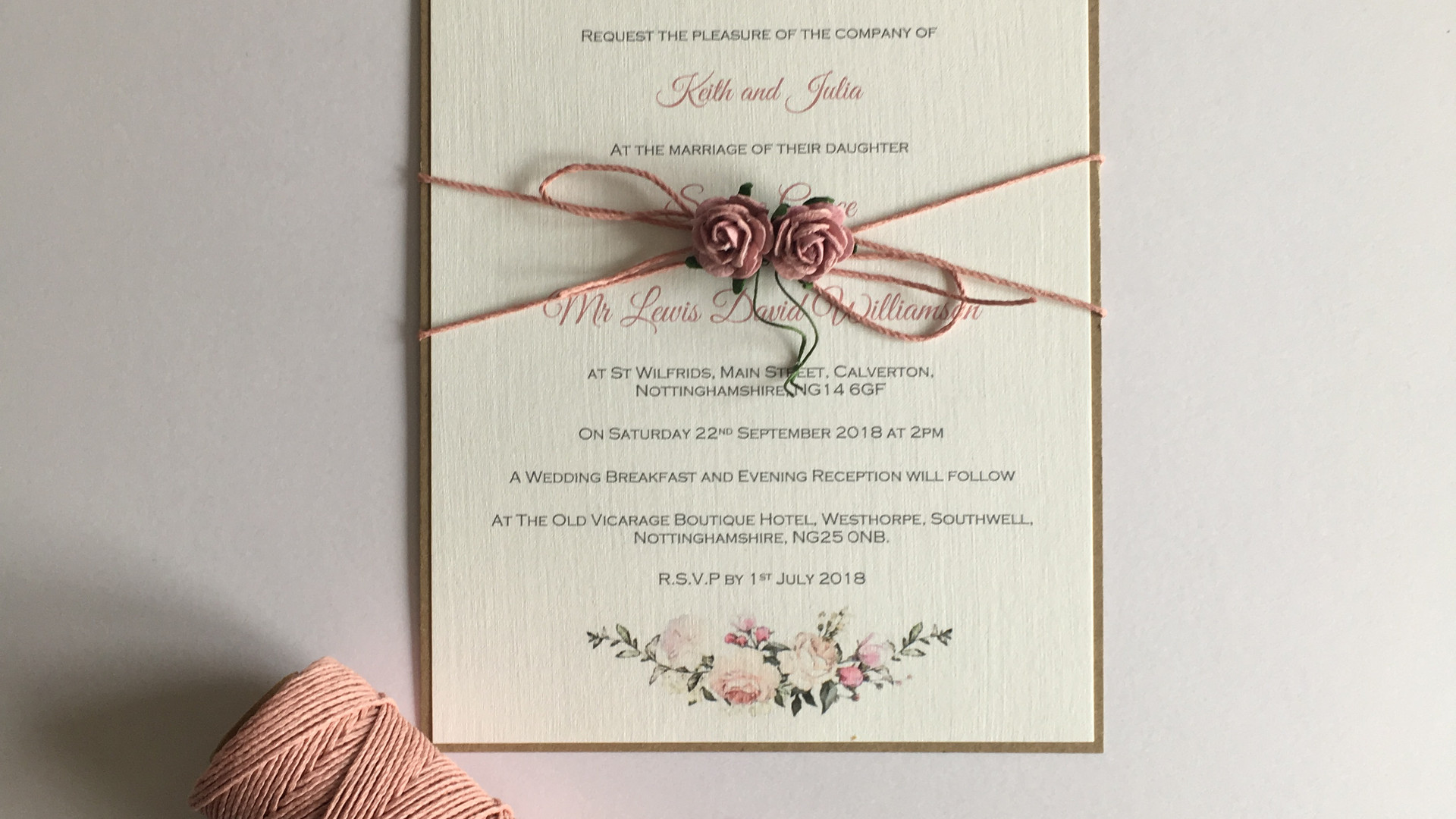 Flora wedding invitation
