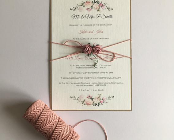 Flora wedding invitation