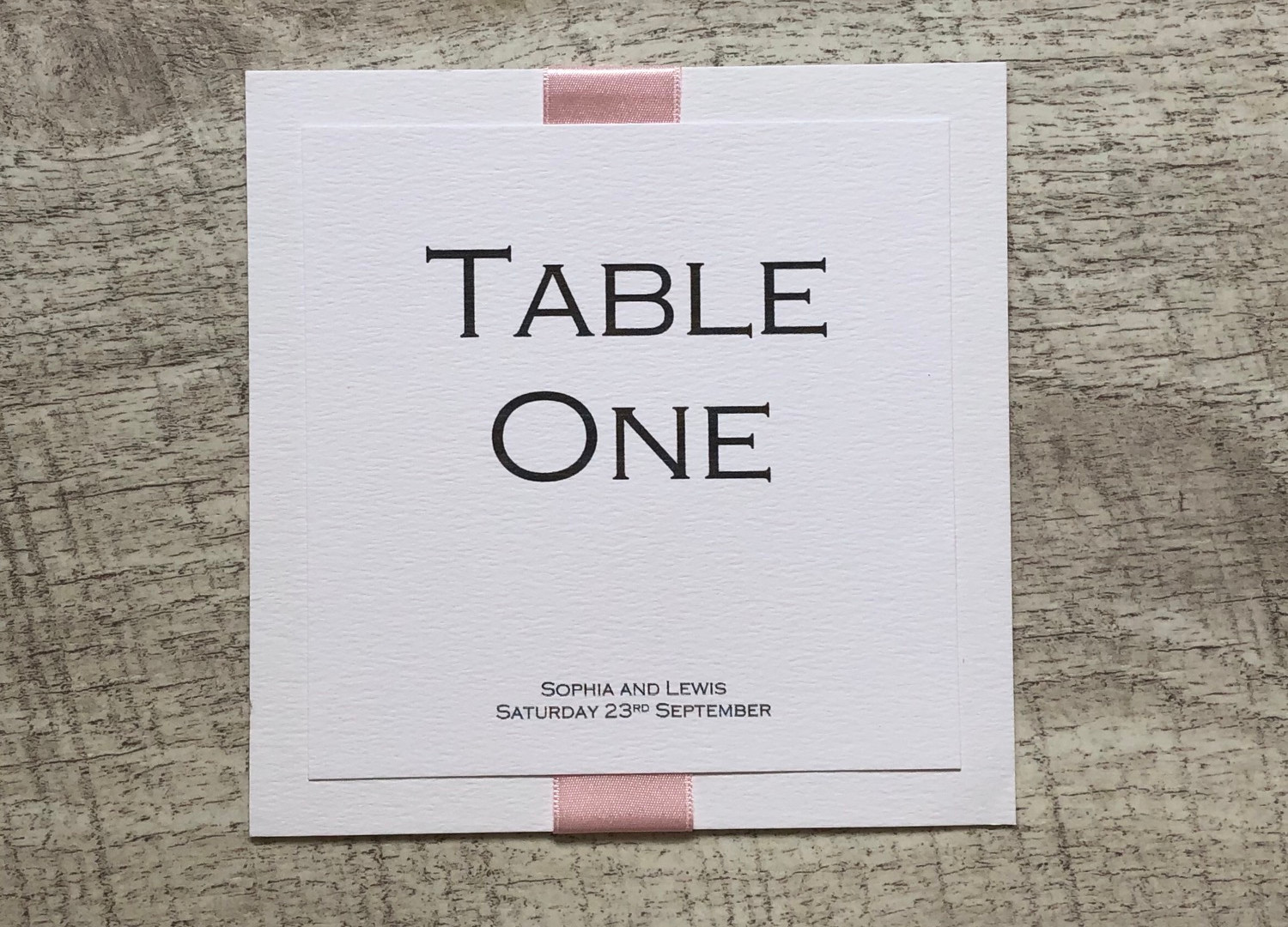 Simplicity Wedding Table Number
