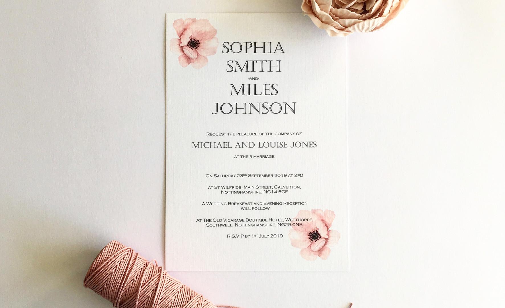 Floral Watercolor Wedding Invitation