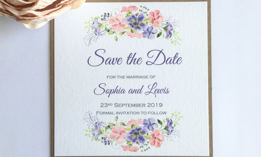 Leah floral save the date
