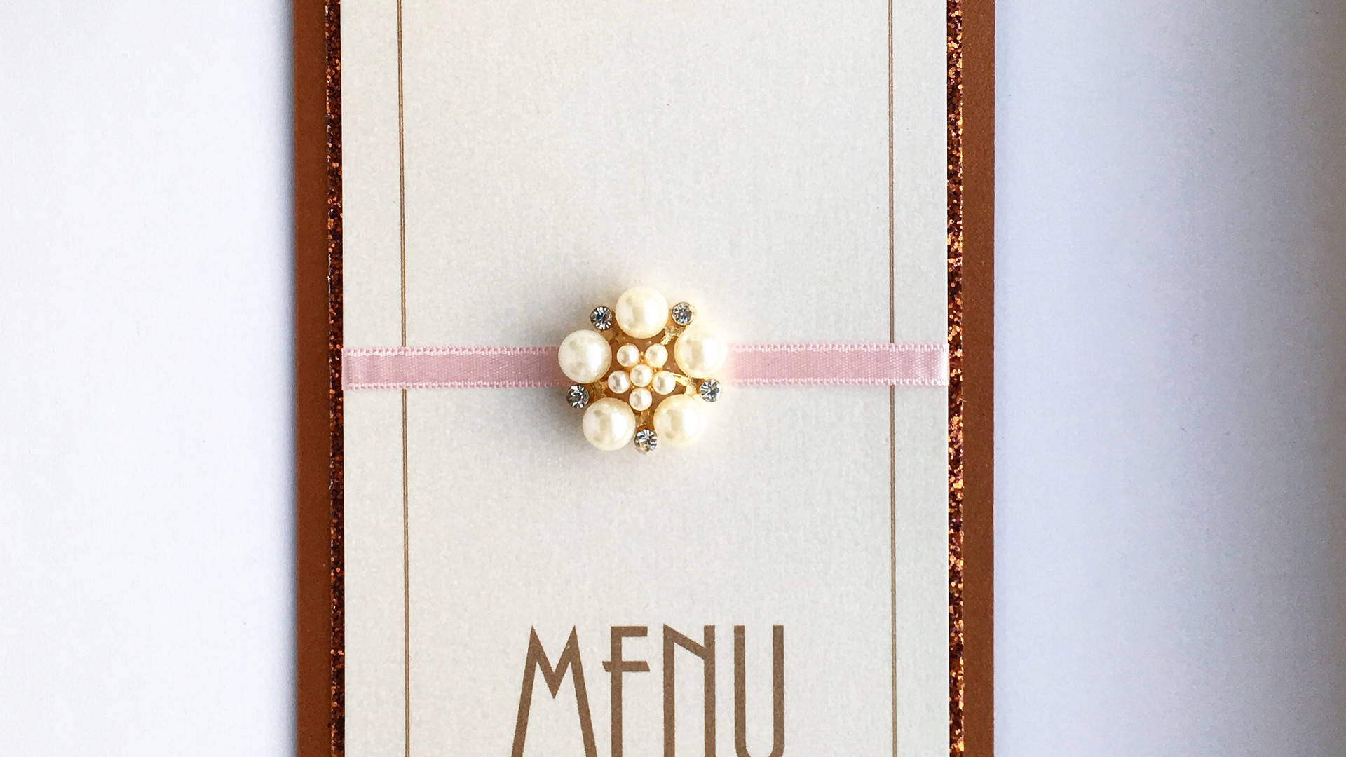 Love Wedding Table Menu