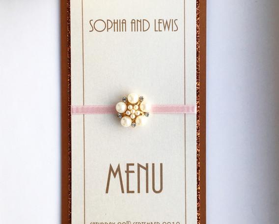 Love Wedding Table Menu
