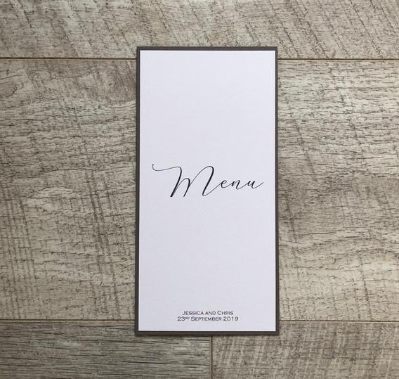 Calligraphy Wedding Table menu