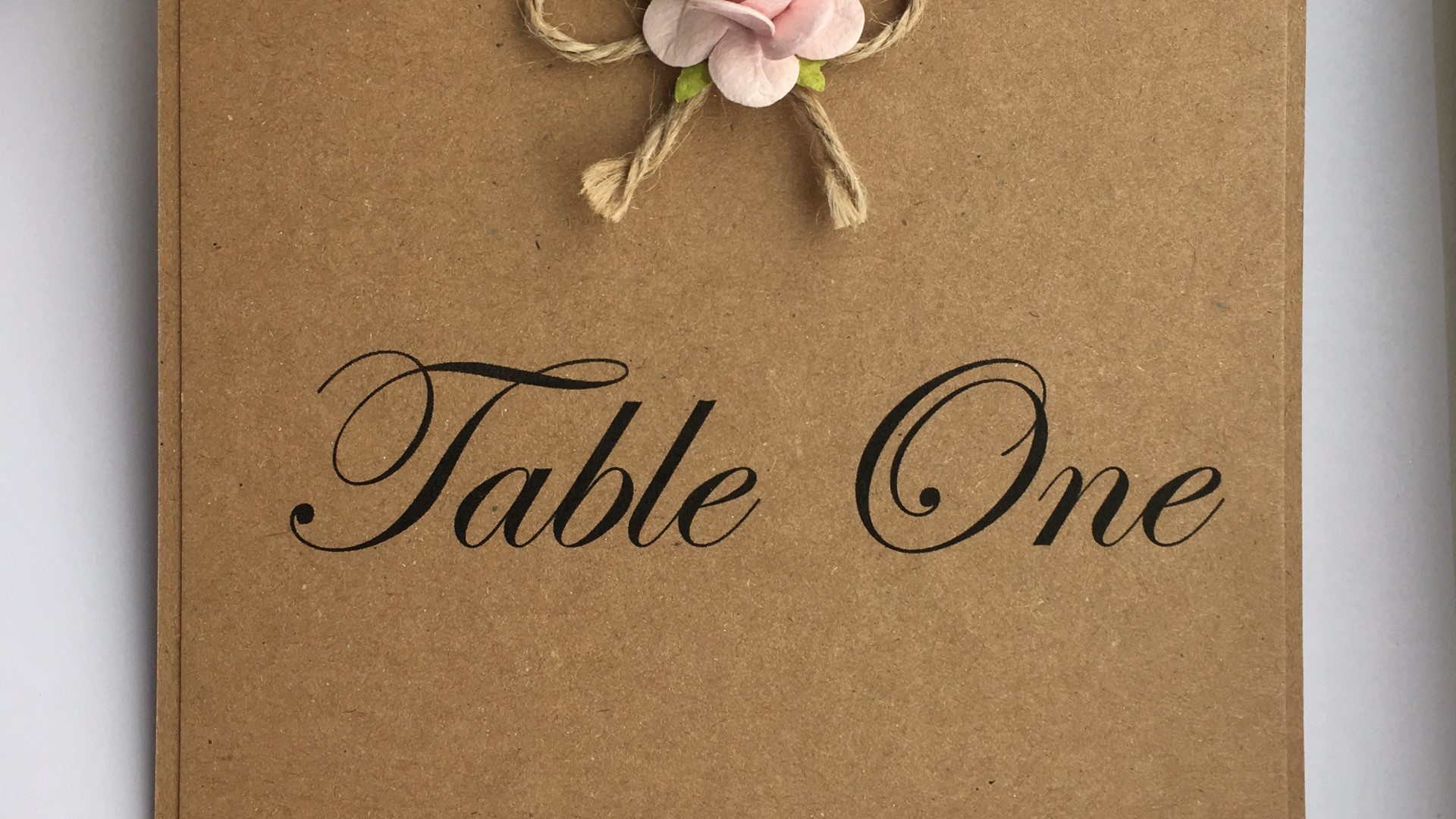 Rustic Love Wedding Table Number