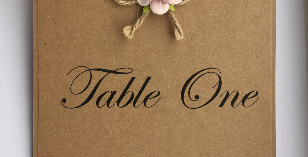 Rustic Love Wedding Table Number