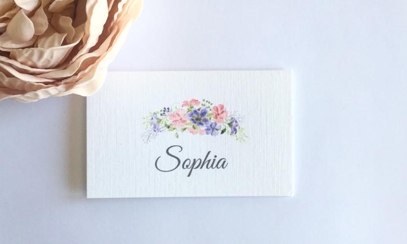 Leah floral place card
