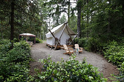 glamping site comox valley