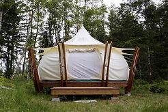 smith lake glamping tent