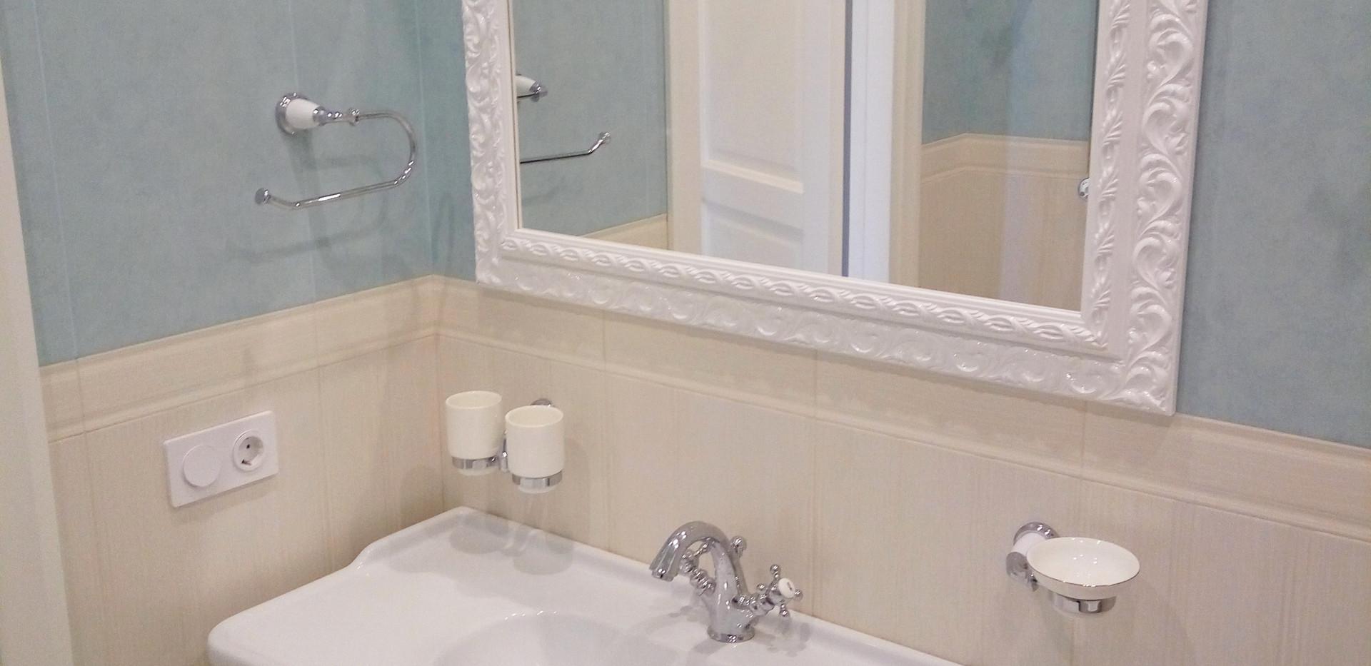 Отделка ванной комнаты по дизайн проекту
