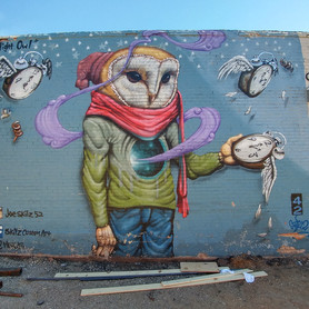 """Night Owl"" Mural 2015"