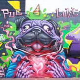 Pug Love Mural 2019