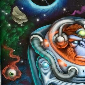 Monkeynaut Mural 2021
