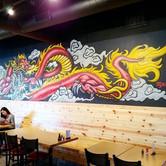 Ninja Ramen Dragon Mural 2019