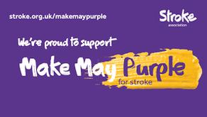 Stroke Awareness Month - Wear is Purple Day 10.05.19