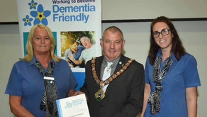 At the celebration event supporting Redcar and Cleveland to become dementia friendly