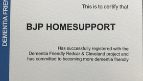 BJP is recognised as a Dementia Friendly service