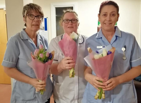 Thanks to Lidl for the flowers donation