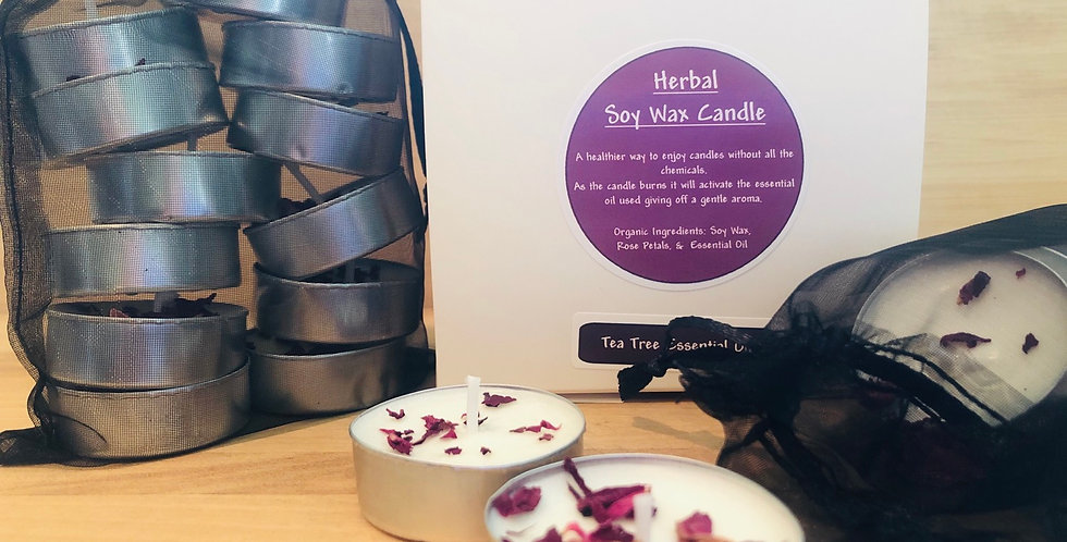 Herbal Soy Wax Candles - Tealights