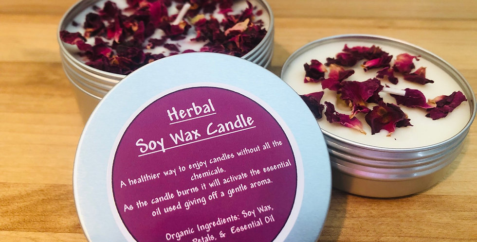 Herbal Soy Candles - Large