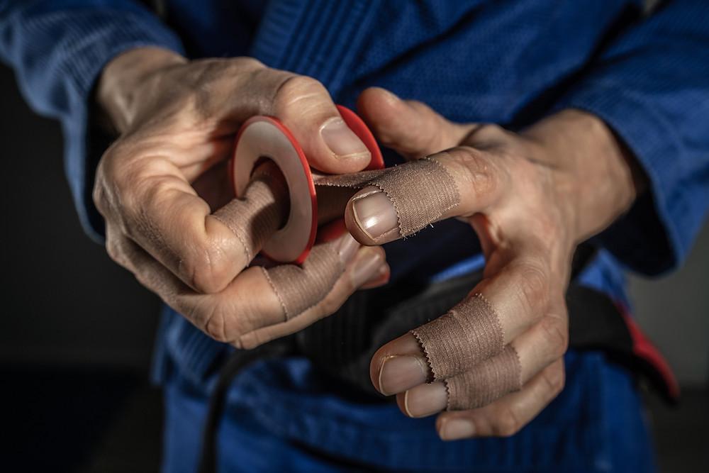 BJJ Report finger tape