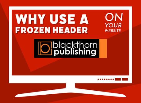 Why use a frozen (sticky) header on my website?