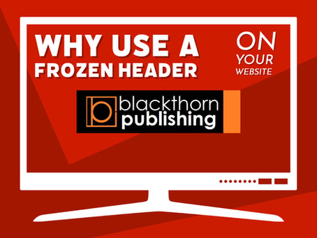 Why use a frozen (sticky) header on my website?