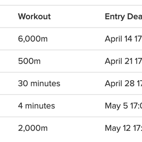 concept 2 SPRING viii series results