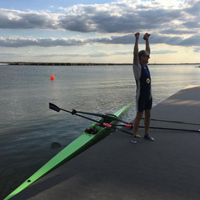 Ali Boileau at the world masters regatta 2019