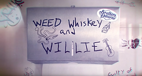 brothers osborne weed whiskey willieMV LV music lyric video graphics animation