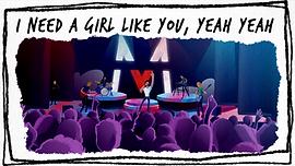 maroon 5 girl like you MV LV music lyric video graphics animation