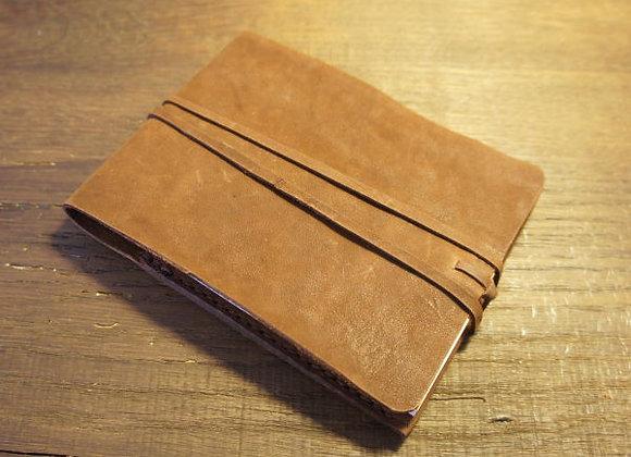 Protège bloc-note en cuir vieilli