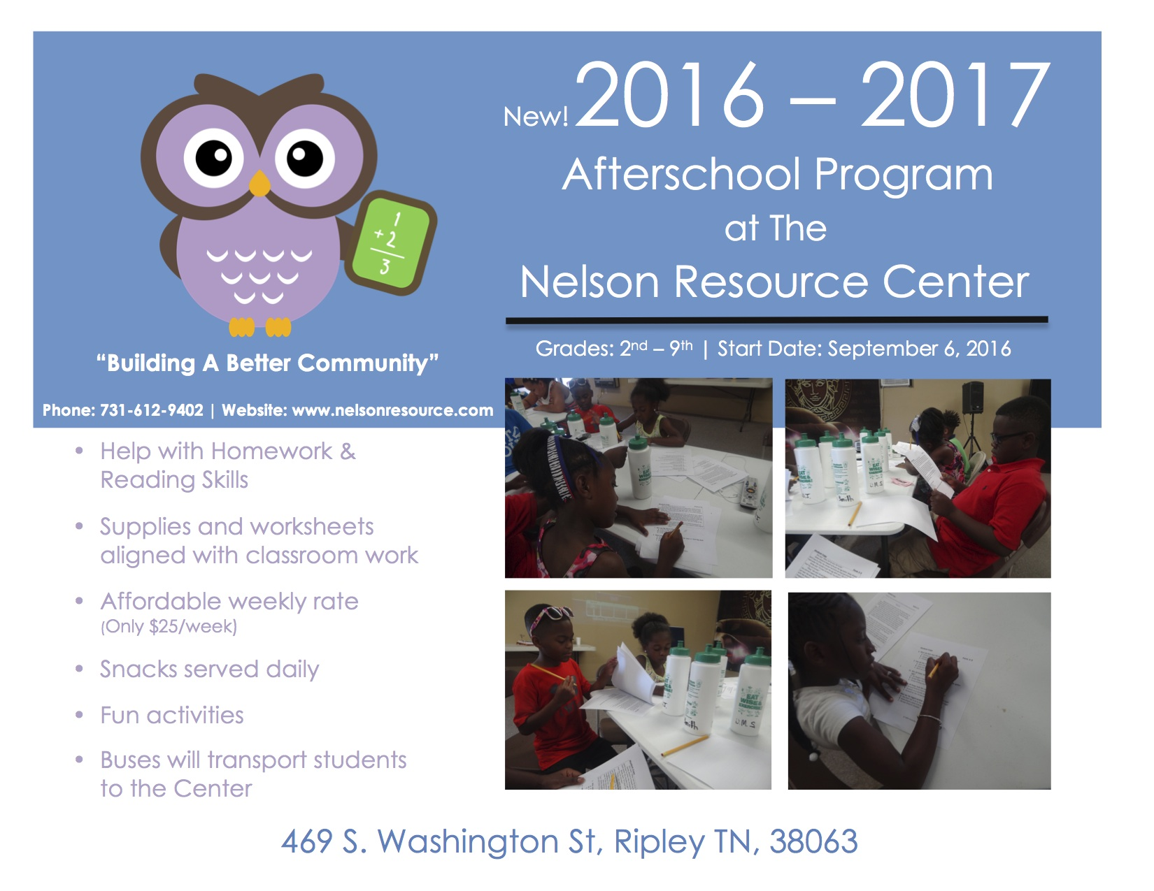 2016 - 2017 Afterschool Program Fyer _ 1st Draft