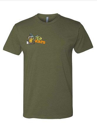 Green Fab Rats Original Welder Rat Logo T-Shirt