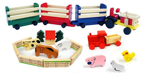 Tractor and farm animals
