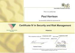 Cert IV in Security & Risk Managment
