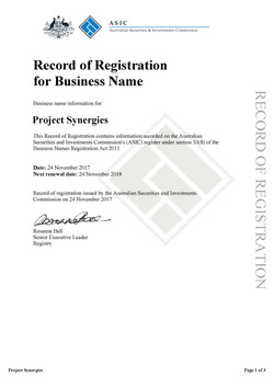 Pages from Record of Registration