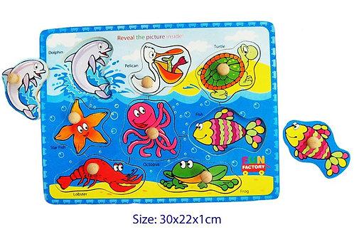 Sea Creatures peg puzzle