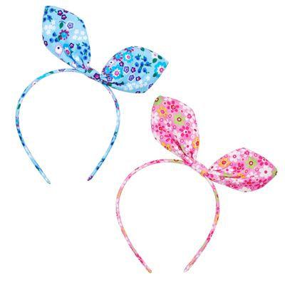 Floral Fabric Bunny Ear Headband