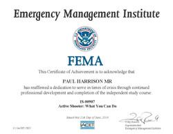 FEMA Active Shooter Cert