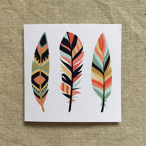 Petit Winter Feathers Card