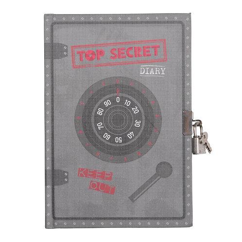 Lockable Diary - Top Secret