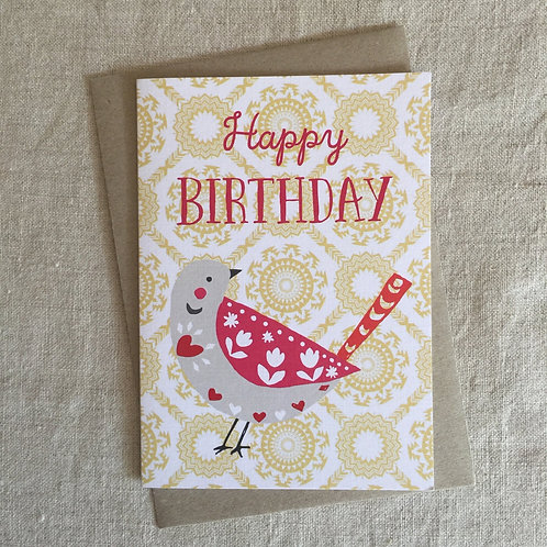 Happy Birthday Birdy Card